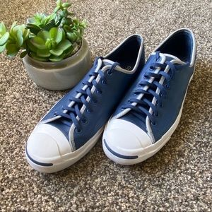 🆕Men's Lowtop Converse Blue And White